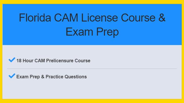 Florida CAM License Course & Exam Prep