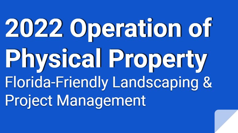 2022 Operation of Physical Property