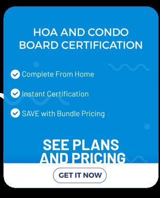 HOA and Condo Board Certification